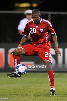 Patrice Bernier of Canada controls the ball against El Salvador during a CONCACAF Gold Cup match at Crew Stadium on July 7 2009 in Columbus Ohio