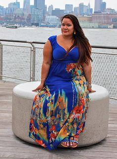 Meet Jennifer, this Curvy Beauty is looking fabulous in the IGIGI by Yuliya Valencia Maxi Dress!
