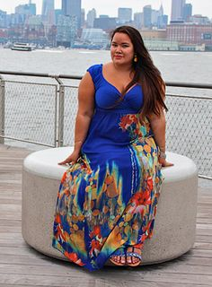 Meet Jennifer, this Curvy Beauty is looking fabulous in the IGIGI by Yuliya Valencia Maxi Dress!