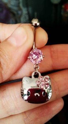Hello Kitty Belly Ring. $12.00, via Etsy.