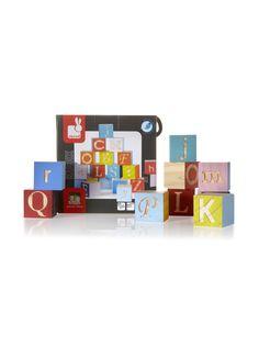 Janod Houten alfabet blokken Kubix