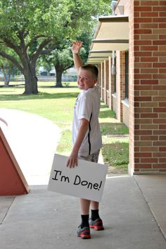 Time for Middle School ... last day of school picture idea