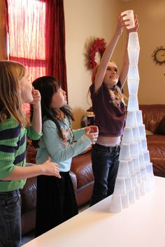 Minute to Win It! Fun ideas for kids.