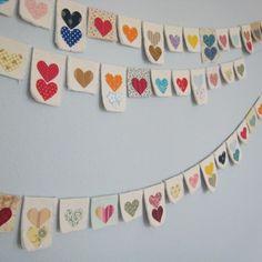 Heart garland! so cute ♥