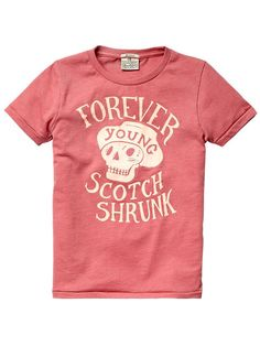 Colourful logo tee - T-shirts - Official Scotch & Soda Online Fashion & Apparel Shops Cool Graphic Tees, Cool Tees, Cool T Shirts, Tee Shirts, Graphic Design, Scotch Shrunk, Scotch Soda, Tee Shirt Designs, Logo Color