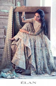 Elan Bridal Collection 2016 Pakistani Bridal Dresses 9 - Elan Bridal Collection 2016 Pakistani Bridal Dresses 9 Source by inaconstantines - Pakistani Wedding Dresses, Indian Dresses, Indian Outfits, Wedding Gowns, Asian Bridal Dresses, Pakistani Bridal Wear, Wedding Hairs, Punjabi Wedding, Indian Clothes