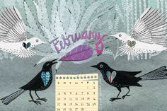 February Desktop Calendar