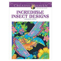 Incredible Insect Designs Adult Coloring Book. Unique office toys, supplies, and products at www.officeplayground.com use code P10 for 10% off