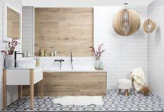skandinávská koupelna Green Kitchen Furniture, Apartment Renovation, Bathroom Inspiration, Bathroom Ideas, Dream Bedroom, My Dream Home, Double Vanity, Bathtub, House Design