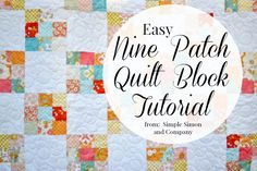 An Easy Way to Make a Nine Patch Quilt Block: Learn this cheater method to speed up making nine patch quilt blocks.