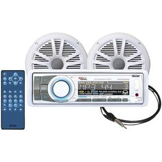 Boss Audio Marine Single-din In-dash Cd Am And Fm Receiver With Bluetooth 2 Speakers & Antenna