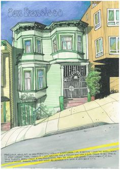 San Francisco. Urban Sketchers: I Left My Heart