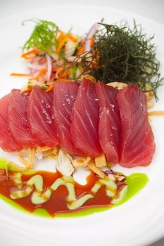 Fresh caught local ahi sashimi — yumm!
