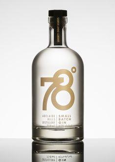 78º Gin — The Dieline - Branding & Packaging Design