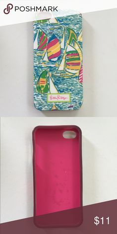 Lily Pulitzer iPhone 5-5s case Adorable Lilly Pulitzer iPhone case! Sailboat design, perfect case for the summer! Fits iPhone 5,5s, and 5c Lilly Pulitzer Accessories Phone Cases