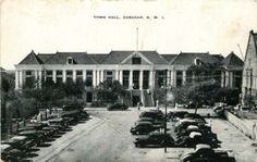 CURACAO NORTH WEST INDIES TOWN HALL BLACK & WHITE PHOTO - bidStart (item 38391042 in Postcards... Other)
