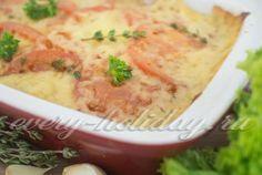 Кабачки и баклажаны, запеченные с сыром и помидорами