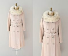 1960s coat / 60s fur collar coat / fox fur / Maniitsoq wool coat. $185.00, via Etsy.