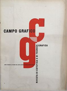 "Established in 1933, ""Campo Grafico"" was not only innovative but revolutionary. The magazine completely overturned the motifs and preconceptions underlying graphic art in Italy at the time, broadening its horizons to comprise new creative landscapes such as the Bauhaus and contemporary art by Mondrian, Picasso and Kandinsky.  It was founded by Attilio Rossi (1909-1994), ...."