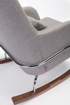 Shop the Modern Jackson Rocker by Monte Design. A stylish nursery rocking chair, with a mid-century modern design. Best rocking chair for the nursery! Modern Nursery Furniture, Chair Sofa Bed, Rocking Chair Nursery, Exposed Wood, Mid Century Modern Design, Fabric Samples, Lumbar Pillow, Or Rose, Bassinet