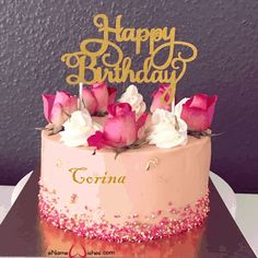 Happy Birthday Greetings Friends, Happy Birthday Wishes Cake, Happy Birthday Celebration, Happy Birthday Flower, Beautiful Birthday Cakes, Happy Birthday Candles, Happy Birthday Sister, Fruit Birthday, Baby Birthday