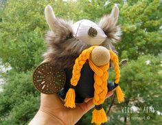 Free Shipping Handmade Viking Stuffed Doll Home Decor Soft Doll Birthday Gift Unique Design by RageRabbit on Etsy