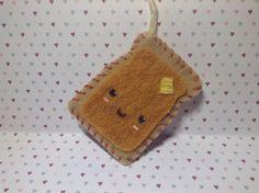 Cute Felt Toast | RolyPoly Charms Diy Clay, Clay Ideas, Charms, Coin Purse, Toast, Felt, Christmas Ornaments, Holiday Decor, Felting