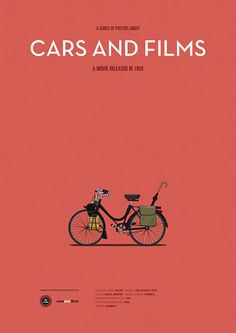 Poster of the bike from Mon Oncle Movie titles are not displayed on the posters. What you see is what you get, says Cars And Films on top. This is