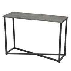 Household Essentials Faux Concrete Slate Console Table