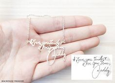 ✤Your signature is very special and unique! Let's us turn it into in a Signature Necklace/Bracelet. This unique personalized necklace is the
