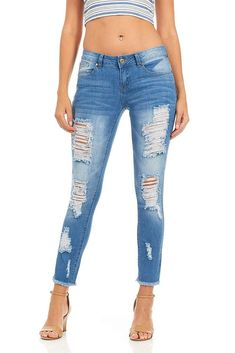 cd8b1dac0f1b Cover Girl Women's Distressed Ripped Skinny Jeans Plus Size Juniors, # covergirl Perfect Jeans,