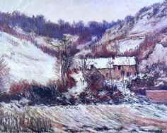 Claude Monet - Snow Effect at Falaise, 1886