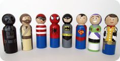 homemade by jill: his and hers wooden peg dolls {plus links to websites to purchase the wood}