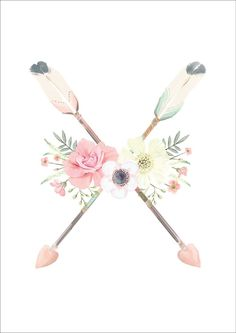 Arrows & Flowers Print - Ginger Monkey