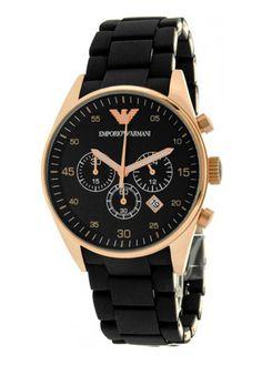 9d9688aceab Emporio Armani AR5905 Black And Gold Watch