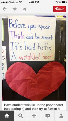 wrinkled heart community builder for beginning of the year