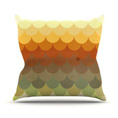 "Danny Ivan ""Half Circle Waves Color"" Outdoor Throw Pillow"