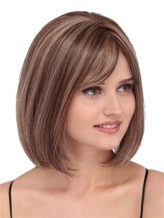 Wig by Louis Ferre: This cute and classic bob with sweeping bangs and face framing style has limitless versatility, natural movement and comfort.by Louis Ferre Wigs - Human Hair, Hand Tied, Monofilament, Lace Front WigLatest Inverted Bob Hairstyles 2 Inverted Bob Hairstyles, Top Hairstyles, Bob Haircuts, Ladies Hairstyles, Hairstyles Videos, Pretty Hairstyles, Medium Hair Styles, Curly Hair Styles, Bob Haircut With Bangs
