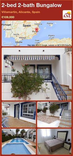Bungalow for Sale in Villamartin, Alicante, Spain with 2 bedrooms, 2 bathrooms - A Spanish Life Valencia, Portugal, Built In Robes, Bungalows For Sale, Alicante Spain, Storage Room, Ground Floor, Terrace, Gazebo