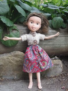 """Tree Change Dolls - ex-Bratz dolls that have been given a """"make-under."""" She re-paints the faces, molds new shoes, and sews/knits them new outfits. She's planning on opening an Etsy shop soon."""