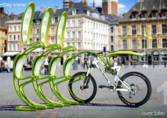 #Creative bicycle stand. #street #furniture