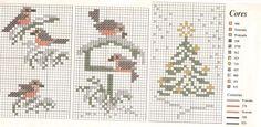 winter birds cross stitch