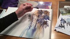 """Loose Trees"" Instructional Watercolor Video by KEN HOBSON"