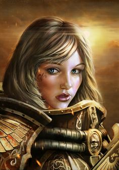 """""""It is not enough to serve the Emperor, or even to love Him. You must give to Him all that you had, all you have, and all you shall ever have. You must give yourself over utterly and entirely to His divine will and become a vessel of that will. Only then is your sacrifice fitting."""" — From the Rule of the Sororitas"""