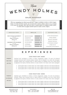 Resume Design  Resume Template  Cover Letter  Resume Guide