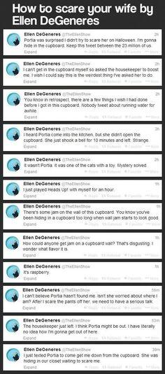 Ellen DeGeneres twitter funny -
