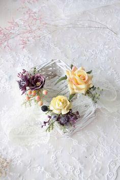 Yellow hair pins Wedding floral clip Spring hair clips | Etsy