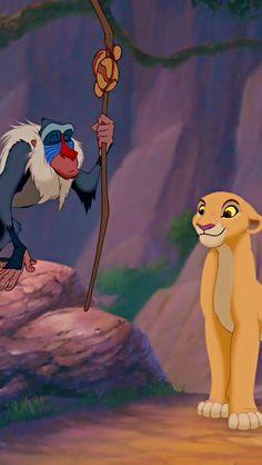 Kiara and rafiki Lion King 3, The Lion King 1994, Lion King Fan Art, Lion King Movie, Disney Lion King, Arte Disney, Disney Art, Disney And Dreamworks, Disney Pixar