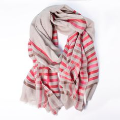Wool/Silk Scarf Red/Brown now featured on Fab.