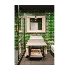 Always a fan of Guerilla Cast and the work they do with How fabulous is this bathroom? Bringing a whole new meaning to GREEN DESIGN (get it? is recyclable. Image by Solid Surface, Guerrilla, Meant To Be, Recycling, Bring It On, It Cast, Fan, Bathroom, Modern